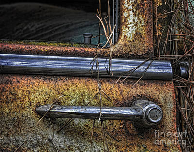 Photograph - Antique Door Handle by Ken Johnson