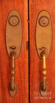 Photograph - Antique Door Knobs by Bob Sample
