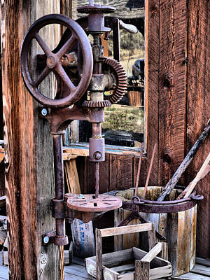 Drill Presses Photograph - Antique Drill Press by Mountain Dreams