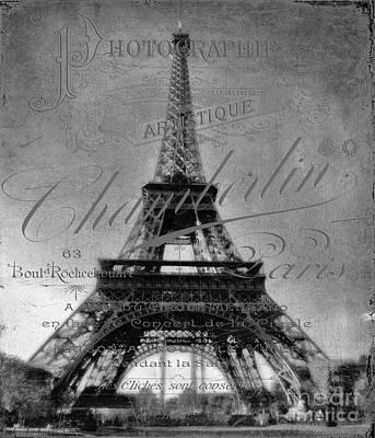 Photograph - Antique Eiffel Tower  by Karen Lewis