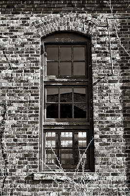 Panes Photograph - Antique Factory Window by Olivier Le Queinec