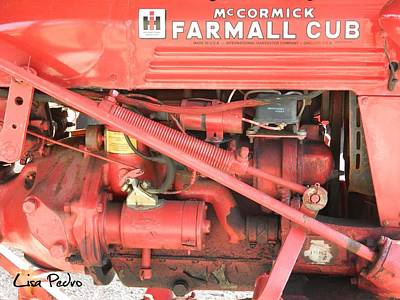 Photograph - Antique Farmall Cub Engine by George Pedro