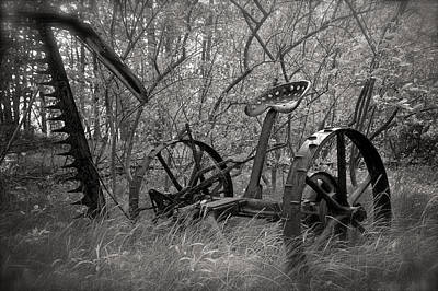 Photograph - Antique Field Mower by Mary Lee Dereske
