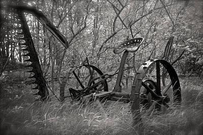 Antique Hay Rake Photograph - Antique Field Mower by Mary Lee Dereske