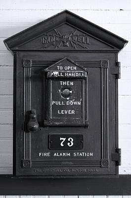 Antique Fire Extinguisher Box, Chippewa Art Print