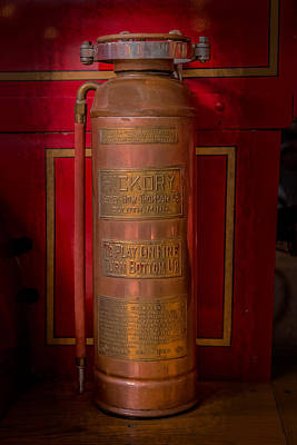 Duluth Photograph - Antique Fire Extinguisher by Paul Freidlund