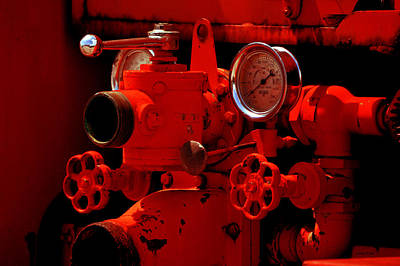 Photograph - Antique Fire Truck Guages by Lesa Fine