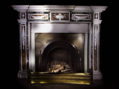 Antique Fireplace Paxton House Art Print