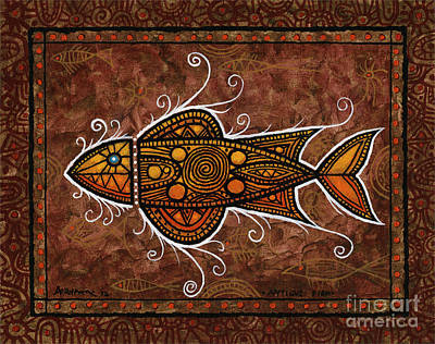 Painting - Antique Fish by Terry Durham