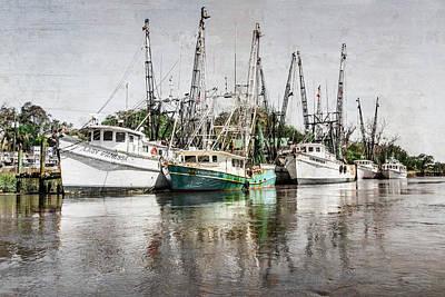Antique Fishing Boats Art Print