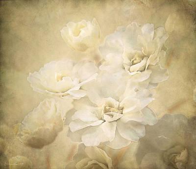 Antique Floral Art Print by Deborah Smith