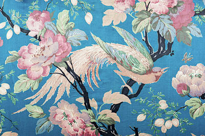 Photograph - Antique Floral Fabric 88281-210-508 by Spiderplay