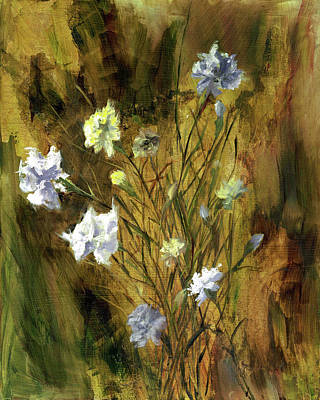 Painting - Antique Flowers by Vic  Mastis
