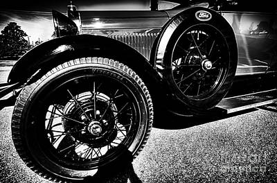 Photograph - Antique Ford Car Closeup by Danny Hooks