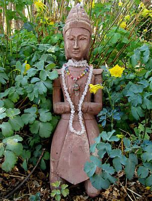 Antique Garden Goddess Art Print by Eileen Lighthawk