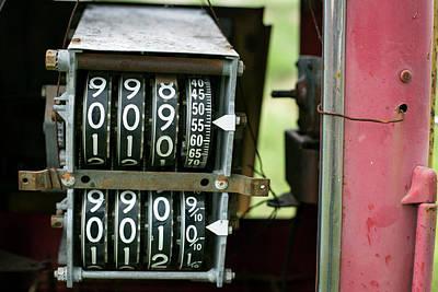 Antique Gas Pumps Photograph - Antique Gas Pump Counting Machine by Julien Mcroberts