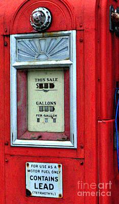 Photograph - Antique Gas Pump by Staci Bigelow