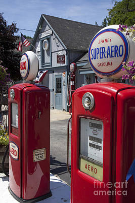 Photograph - Antique Gas Pumps by Jim West