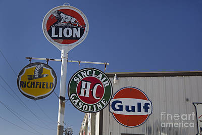 Photograph - Antique Gas Station Signs by Jim West