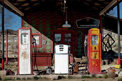 Gasoline Wall Art - Photograph - Antique Gas Station by Sunara