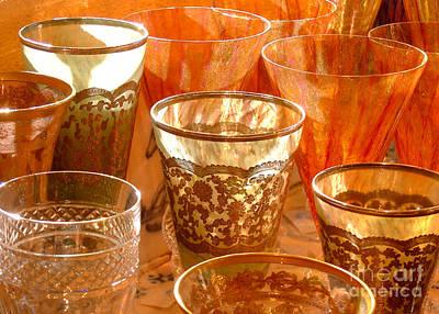 Glassware Digital Art - Antique Glassware by Glenn Morimoto