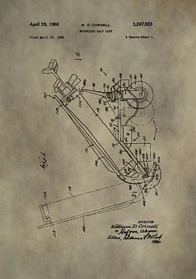 Antique Golf Cart Patent Art Print by Dan Sproul
