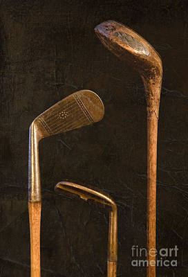 Best Sellers - Sports Royalty-Free and Rights-Managed Images - Antique Golf Clubs by Diane Diederich