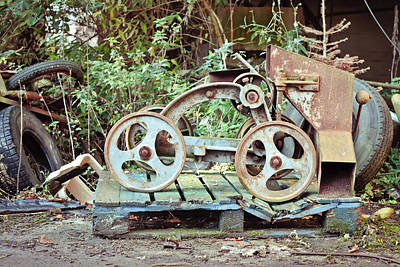 Junk Photograph - Antique Grain Barrow by Tom Gowanlock