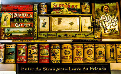 Photograph - Antique Grocery Shelf by Mick Anderson