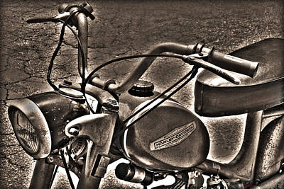 Photograph - Antique Harley by Kelly Hazel