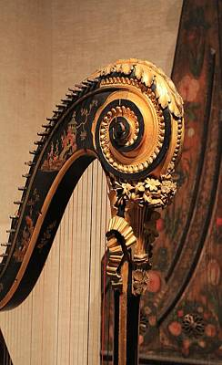 Photograph - Antique Harp At Mfa by Michael Saunders