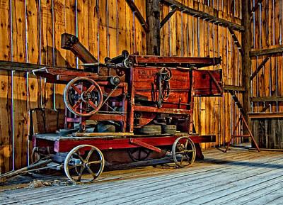 Ontario Photograph - Antique Hay Baler by Steve Harrington