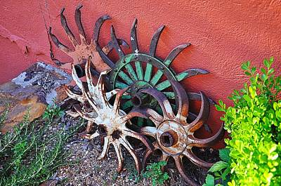 Photograph - Antique Hay Rakes by Jeanne May