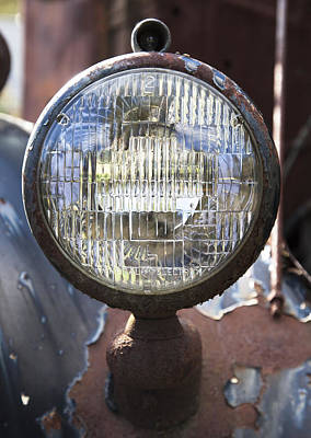 Photograph - Antique Headlamp by Charles Harden
