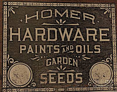 Antique Homer Hardware Art Print