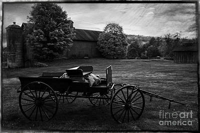 Photograph - Antique Horse Drawn Wagon by Expressive Landscapes Fine Art Photography by Thom