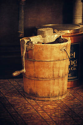 Sorbet Photograph - Antique Ice Cream Maker by Maria Angelica Maira