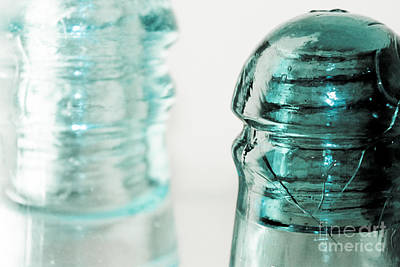 Photograph - Antique Insulators by Colleen Kammerer