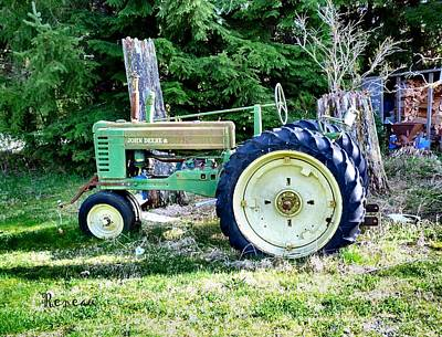 Photograph - Antique John Deere Tractor 1 by Sadie Reneau
