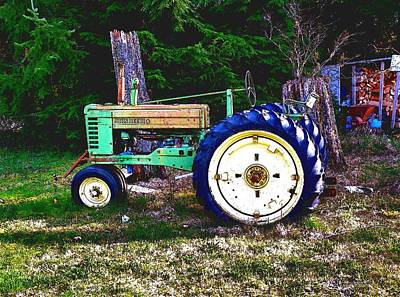 Photograph - Antique John Deere Tractor 2 by Sadie Reneau