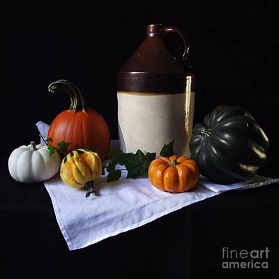 Photograph - Antique Jug With Squash by Michelle Welles