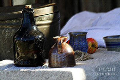 Colorful People Abstract Royalty Free Images - Antique Jugs Royalty-Free Image by Catherine Sherman