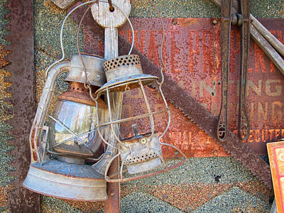 Photograph - Antique Kerosene Lamps by Mary Lee Dereske