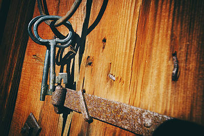 Antique Keys And Rings Art Print