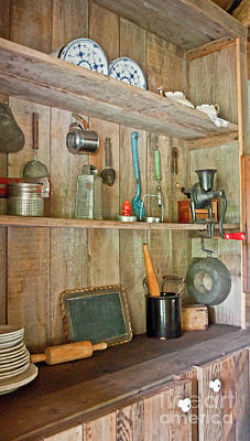 Photograph - Antique Kitchen Cupboard by Valerie Garner