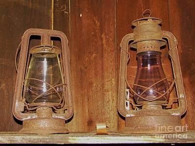 Oil Lamp Photograph - Antique Lamps by D Hackett