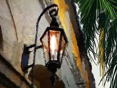Street Lamps Digital Art - Antique Lantern by Anthony Fishburne