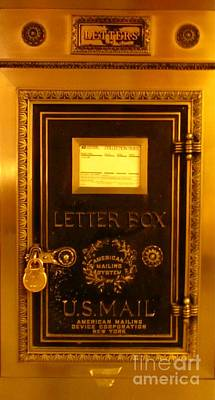 Antique Letter Box At The Brown Palace Hotel Art Print by John Malone