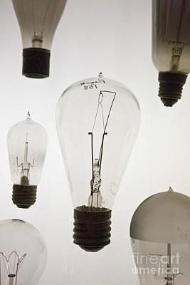 Jason O. Watson Photograph - Antique Light Bulbs by Jason O Watson