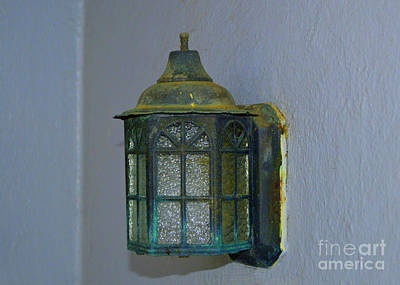 Photograph - Antique Light Fixture by Lew Davis